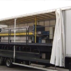 Aqua Traitements Saint Victoret Location d'Unités de Traitement Filtre presse mobile Von Roll